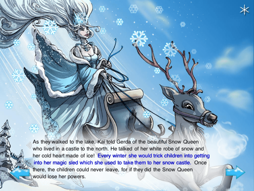 The Snow Queen Musical Interactive Storybook App Screenshot