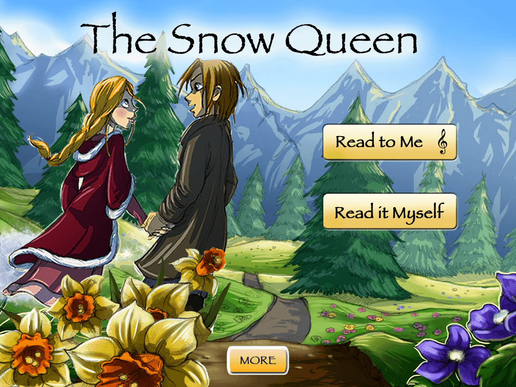 The Snow Queen Musical Storybook App Main Menu